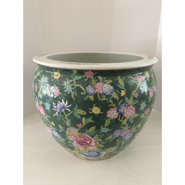 Late 20th Century Chinese Fish Bowl Planter For Sale - Image 13 of 13