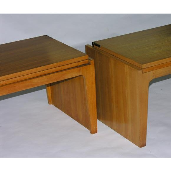 Mid-Century Modern Convertible Stacking Occasional Tables by Edward Wormley For Sale - Image 3 of 6