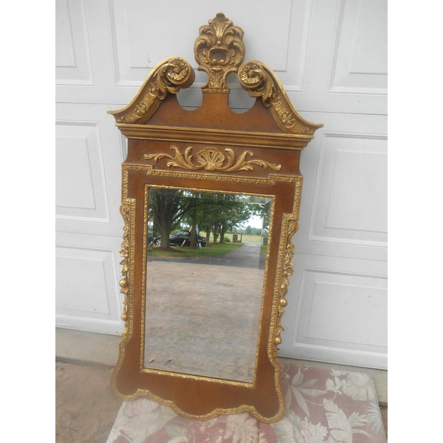 Gold Friedman Brothers Mahogany & Gold Georgian Mirror For Sale - Image 8 of 8
