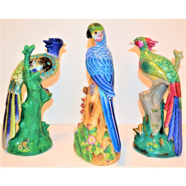 This is a beautiful set of three Parakeets and Pheonix tropical birds. They are in bold, bright beautiful hues with a lot...