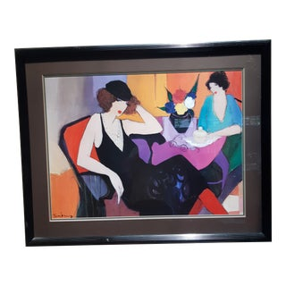 """Itzchak Tarkay """"Maria and Susie"""" Lithograph For Sale"""