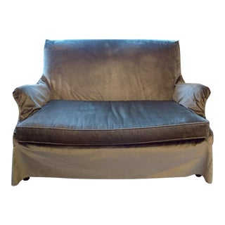 Lee Industries Velvet Slipcovered Loveseat