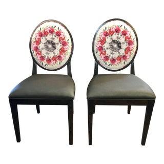Modern Haven Side Chairs- A Pair For Sale