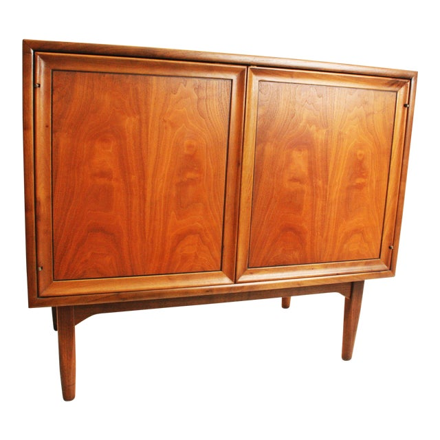 Mid-Century Modern Drexel Wood Record Cabinet - Image 1 of 11
