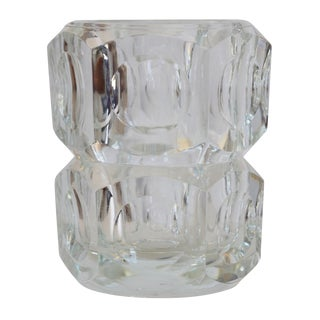 Czech Bohemian Lead Crystal Vase For Sale