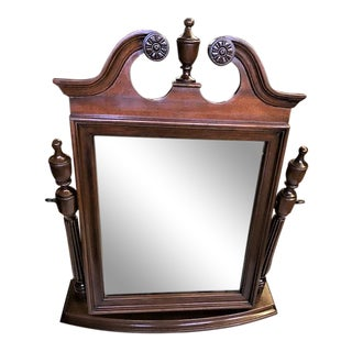 Mahogany Table Top Dressing Mirror For Sale
