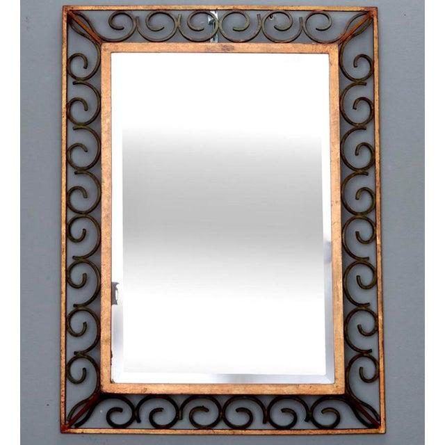 French Art Deco Gilt Iron Framed Rectangular Mirror - Image 2 of 7