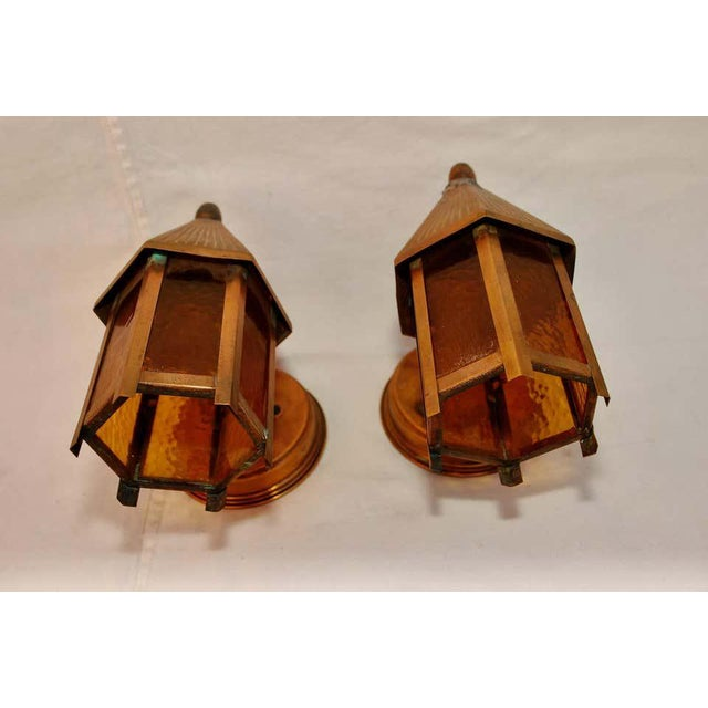 1940s Outdoor Copper Sconces - a Pair For Sale - Image 4 of 5