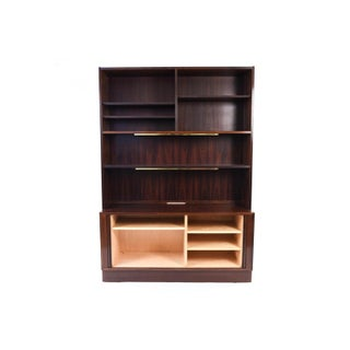Mid-Century Danish Modern Rosewood Tambour Door Bookcase by Poul Hundevad Preview