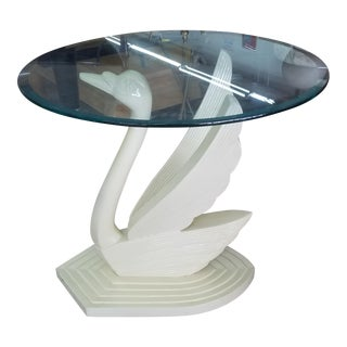 1970's Hollywood Regency Swan Table For Sale