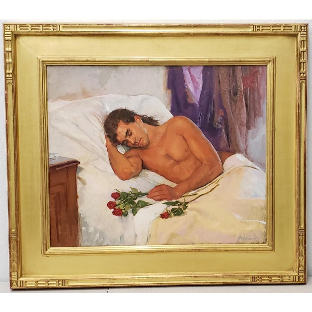 Bob Gerbracht (American, 1924-2017) Original Oil Portrait of a Young Man For Sale - Image 9 of 9