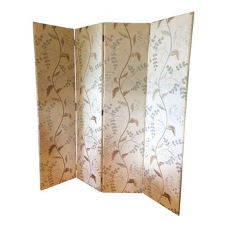 Custom Tall Luxurious Upholstered Screen in Pierre Frey Fabric