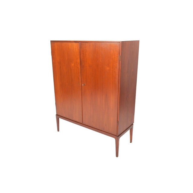 Tall Danish Modern Teak Bureau - Image 9 of 10