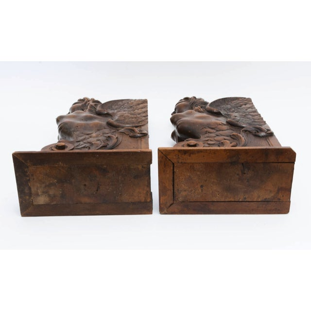 Figurial Walnut Carved Bookends - a Pair For Sale In Nashville - Image 6 of 11