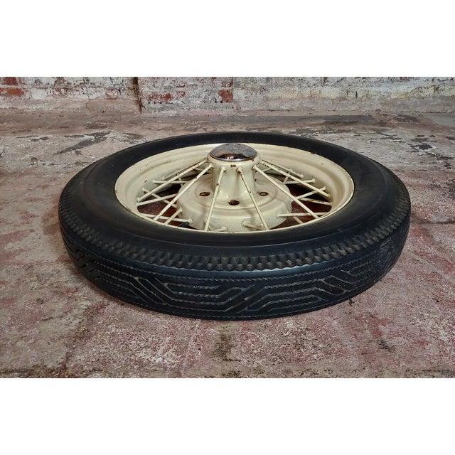 Ford Model a Original 1920/30s Wire Spoke Wheel W/Insa Tire For Sale - Image 9 of 10