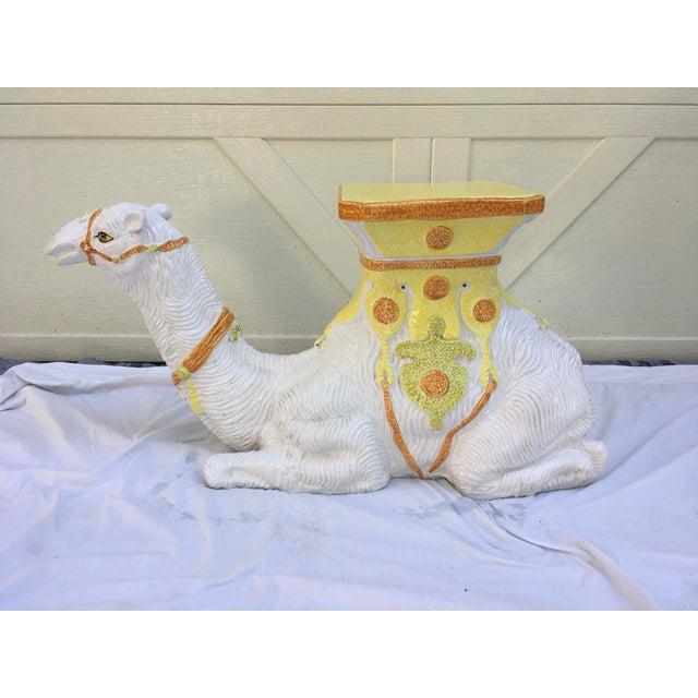Italian Terra-Cotta Camel Garden Seat For Sale - Image 11 of 13