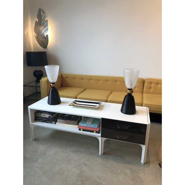 Mid Century Modern Raymond Loewy Low Two Sided Cabinet / Coffee Table - Image 7 of 8