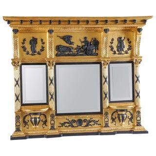 English Regency Parcel-Ebonized Giltwood Mirror, Circa 1800 For Sale