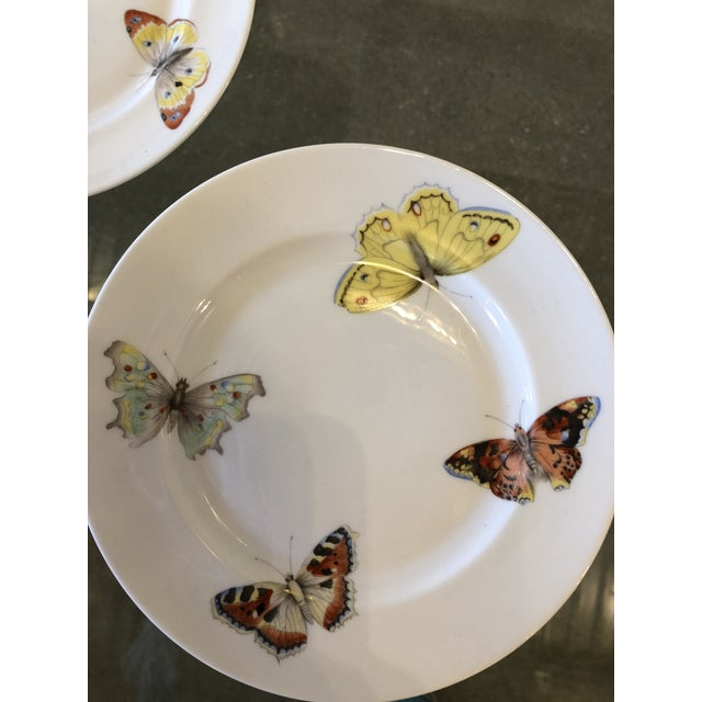 "S/7 Mid Century Modern L. Bernardaud Porcelain ""Butterfly"" Pattern Small Plates - Image 4 of 8"