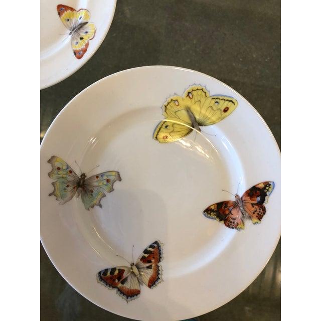 "S/7 Mid Century Modern L. Bernardaud Porcelain ""Butterfly"" Pattern Small Plates - Image 4 of 8"