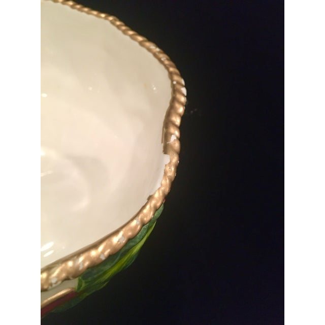 White Vintage Late 20th Century Fitz and Floyd Christmas Dish With Holly Berries For Sale - Image 8 of 10