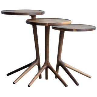 Tripod Nesting Tables - Set of 3 For Sale