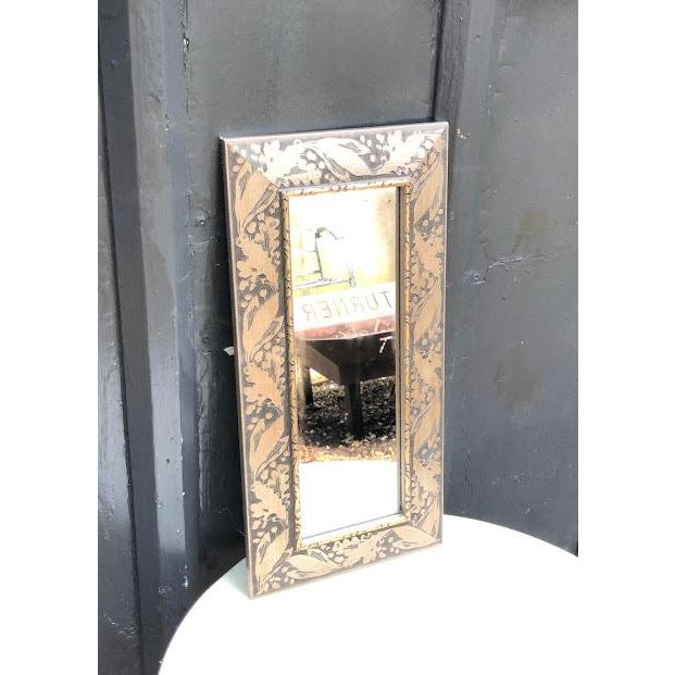 1980s Silver-Frame Rectangular Wall Mirror For Sale - Image 5 of 5