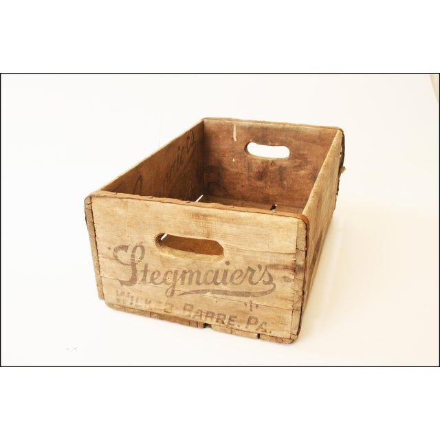 Vintage Rustic Stegmaier's Brewery Wood Crate For Sale - Image 6 of 11
