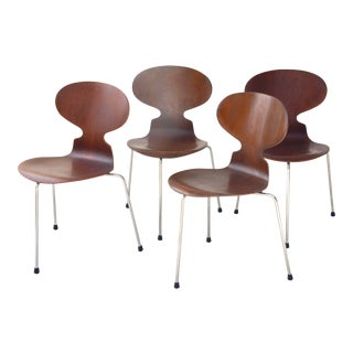 Arne Jacobsen Six Ant Chairs, Model 3101 for Fritz Hansen, 1950s For Sale