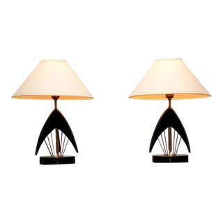 Pair of Mid-Century Modern Atomic Table Lamps For Sale