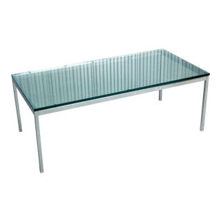 Florence for Knoll Glass and Chrome Coffee Table For Sale