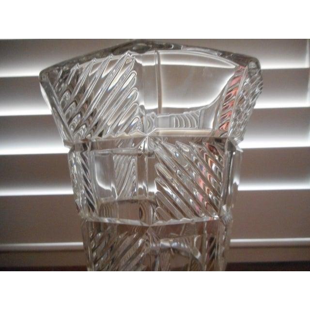 Art Deco Pressed Glass Vase For Sale - Image 4 of 4