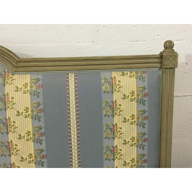 20th Century French Style Upholstered King Bedframe For Sale - Image 4 of 10