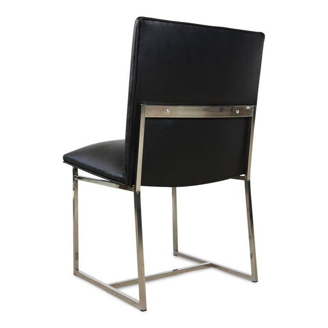 Milo Baughman Dining Chairs Reupholstered in Edelman Leather, Circa 1970 - Set of 8 - Image 4 of 8