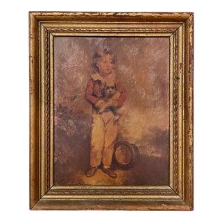 Vintage Portrait Print of a Boy For Sale