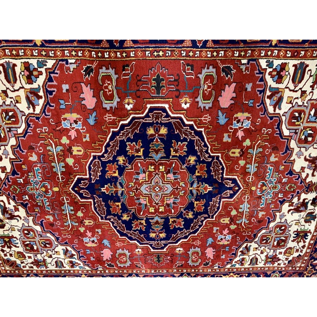 Large Vintage Bahtiari Handwoven Persian Fine Wool Rug For Sale - Image 4 of 6