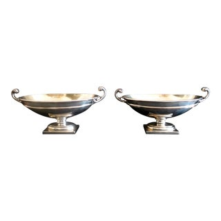 Mid 19th Century Vintage Edwardian Salt Cellars- A Pair For Sale