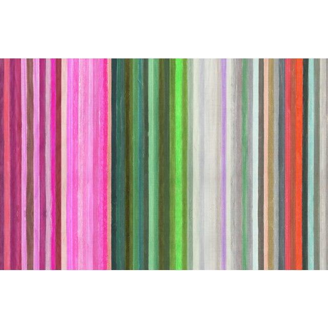 "Boho Chic Kristi Kohut ""Chromatic Harmony"" Artwork Printed Pouf For Sale - Image 3 of 4"