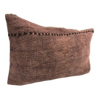 Vintage Turkish Handmade Decorative Bohemian Kilim Pillow For Sale