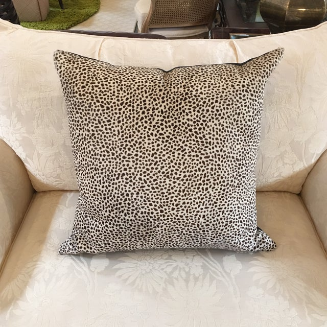 Kreiss Furniture Leopard Spotted Hide Pillow - Image 2 of 5