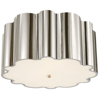 Large Transitional Alexa Hampton Flush Mount Fixture For Sale