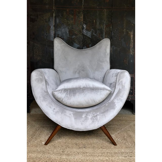 Jean Royère Chic Lounge Chairs in the Manner of Jean Royere - a Pair For Sale - Image 4 of 13