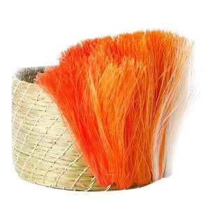 Fanned Out Mini Planter Natural & Tangerine Fan For Sale