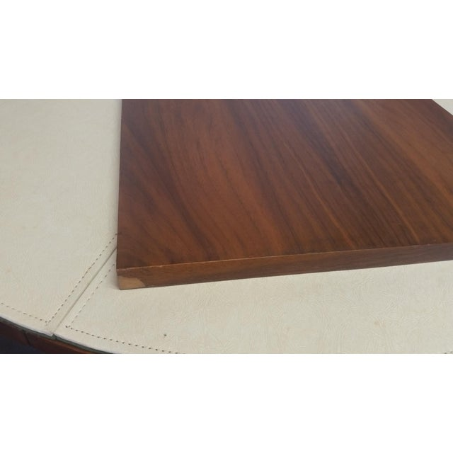 Wood Lane Rhythm Round Dining Table Leaf Pads For Sale - Image 7 of 11