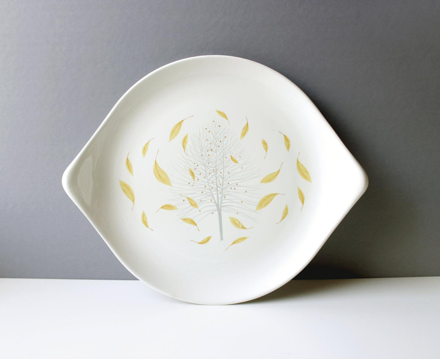Eva Zeisel For Hallcraft Sunglow Serving Platter Mid Century   Image 2 Of 5