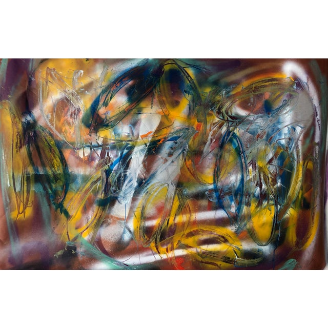 Original Abstract on Paper by Erik Sulander 36x50 For Sale