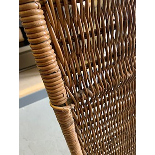 Brown Vintage Rattan Etagere by Danny Ho Fong For Sale - Image 8 of 10