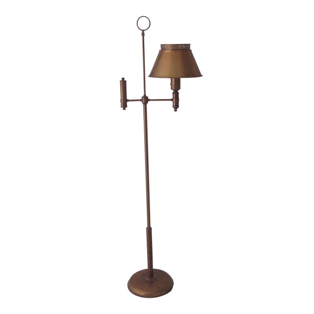 Brass Colored Tole Floor Lamp - Image 1 of 11