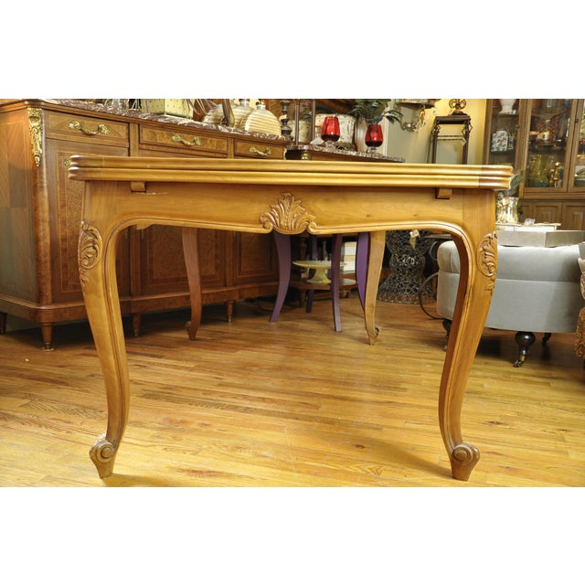 French Parquetry Cherry Wood Dining Table Chairish