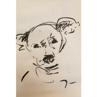 "Jose Trujillo ""Dog Puppy"" Original Charcoal Drawing For Sale"